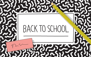 gift card - school notebook